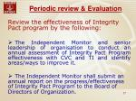 periodic review evaluation