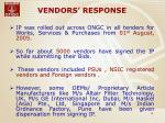 vendors response