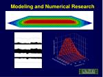 modeling and numerical research