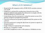 what is a ev validation