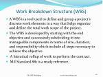 work breakdown structure wbs121