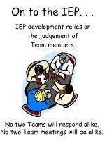 on to the iep