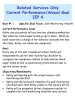 related services only current performance annual goal iep 4