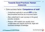 towards good practices human resources