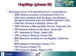hapmap phase iii