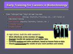 early training for careers in biotechnology