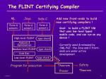 the flint certifying compiler