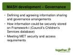 mash development governance