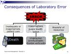 consequences of laboratory error