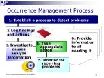 occurrence management process
