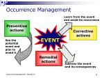 occurrence management19