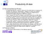 productivity till date