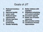 goals of jit