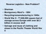 reverse logistics new problem