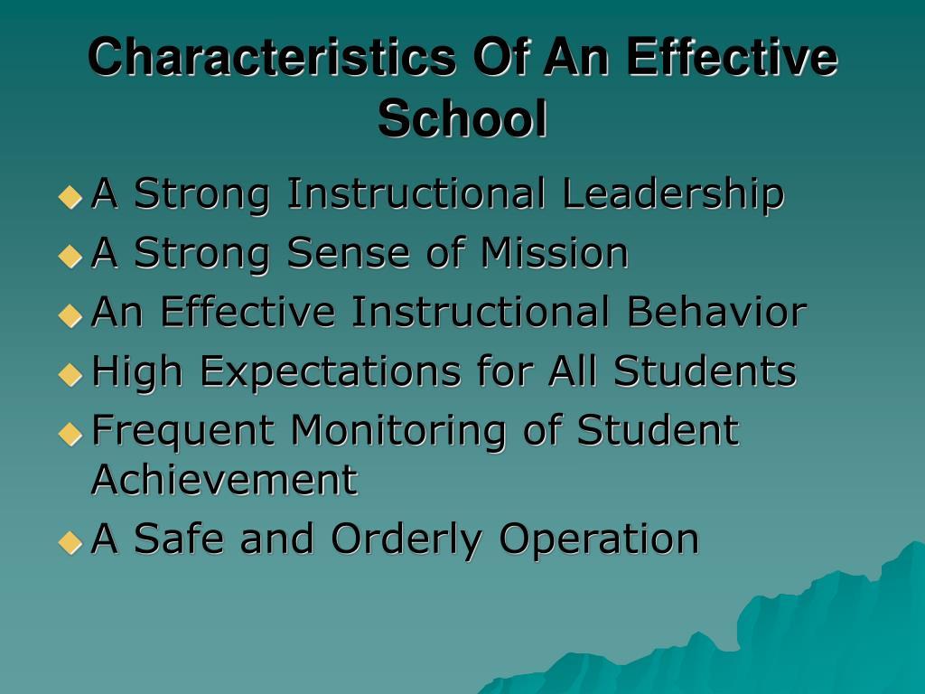Characteristics Of An Effective School