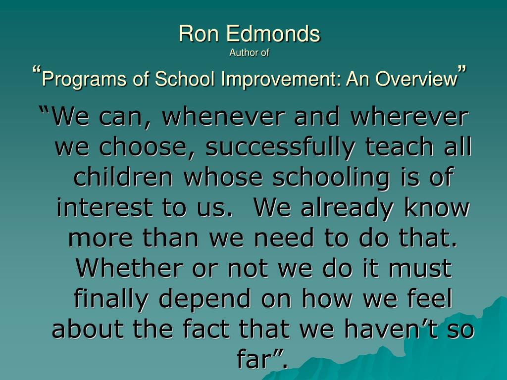Ron Edmonds