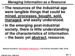 managing information as a resource