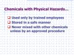 chemicals with physical hazards