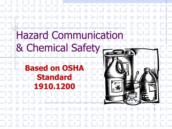 hazard communication chemical safety n.