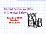 hazard communication chemical safety