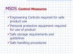 msds control measures
