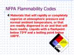 nfpa flammability codes