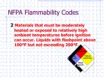 nfpa flammability codes2
