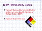 nfpa flammability codes3