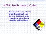 nfpa health hazard codes1