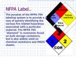 nfpa label