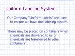 uniform labeling system