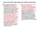 johann peter hebel adams s hne aus biblische geschichten