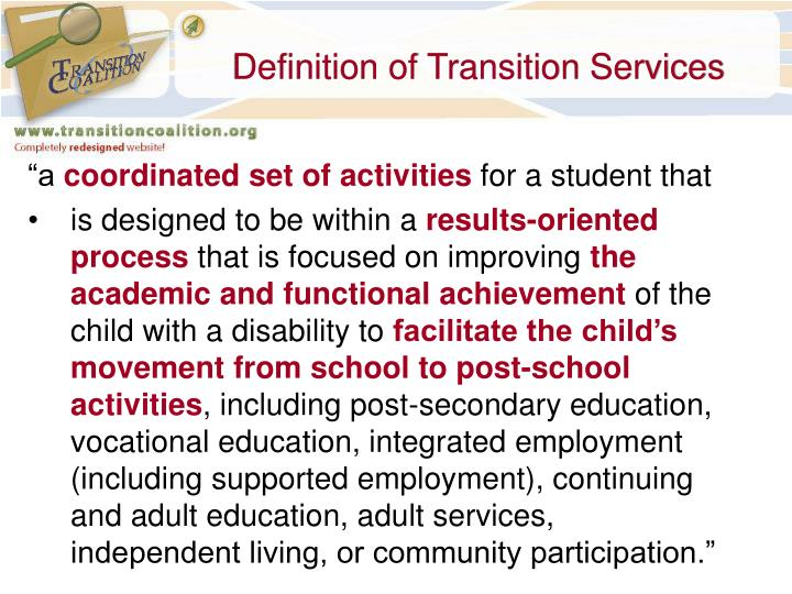 Ppt Transition Planning Parent S Perspective To Quality