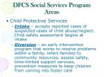 dfcs social services program areas