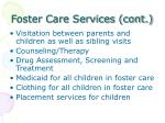 foster care services cont