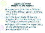legal basis state foster care and adoption