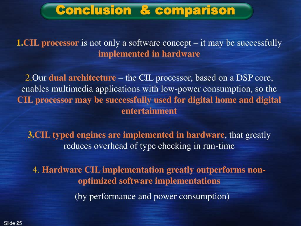 Conclusion  & comparison