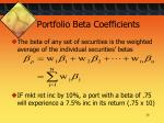 portfolio beta coefficients