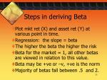 steps in deriving beta