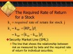 the required rate of return for a stock