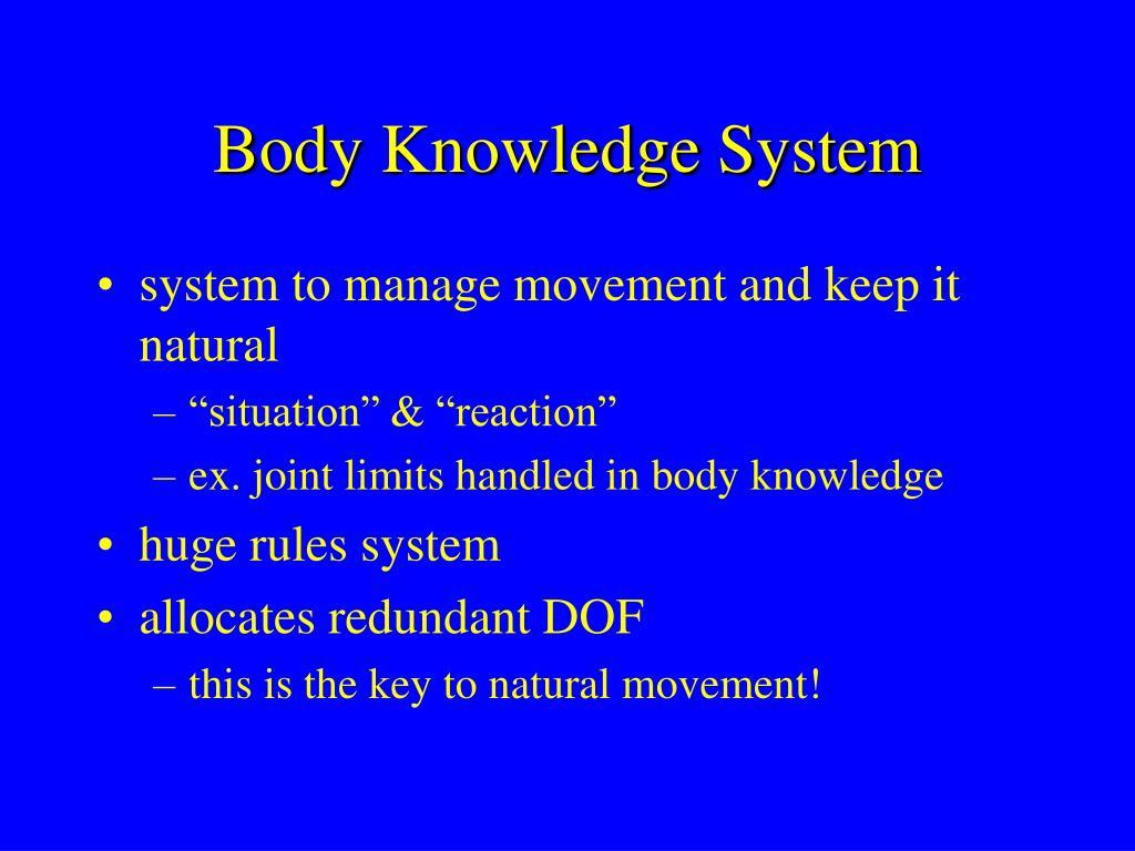 Body Knowledge System