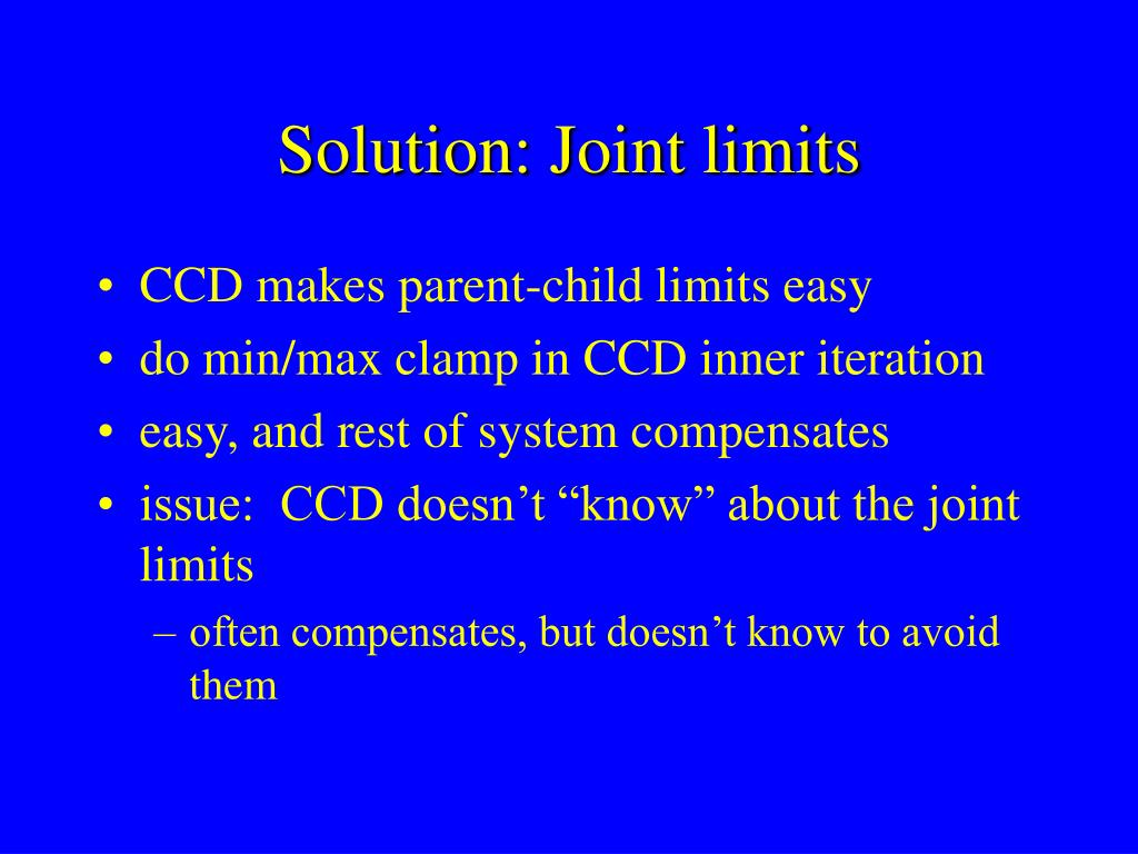 Solution: Joint limits