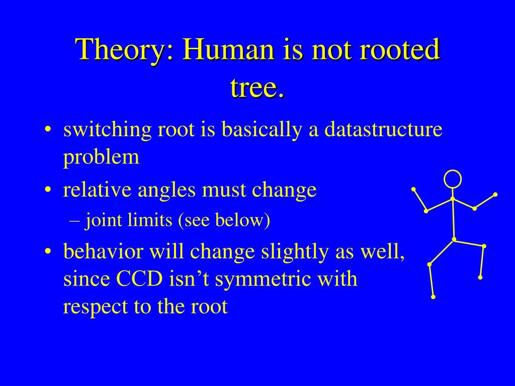 Theory: Human is not rooted tree.