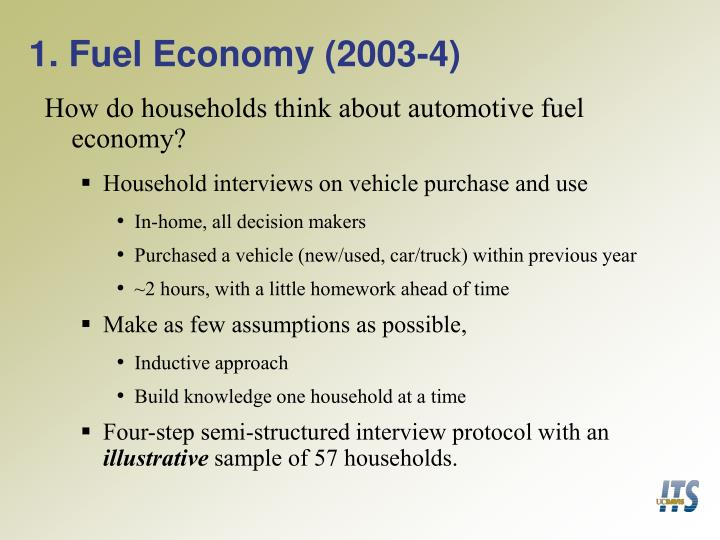 1 fuel economy 2003 4