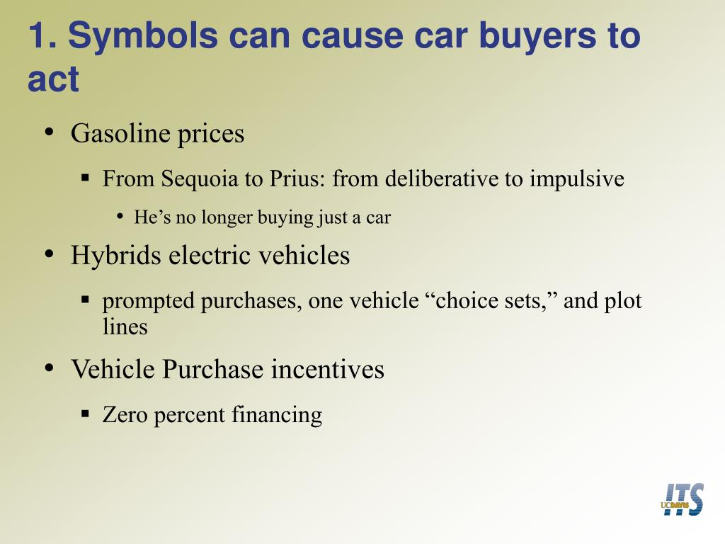 1. Symbols can cause car buyers to act