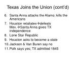 texas joins the union cont d