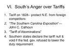 vi south s anger over tariffs