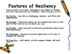 features of resiliency
