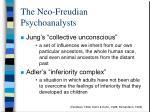 the neo freudian psychoanalysts