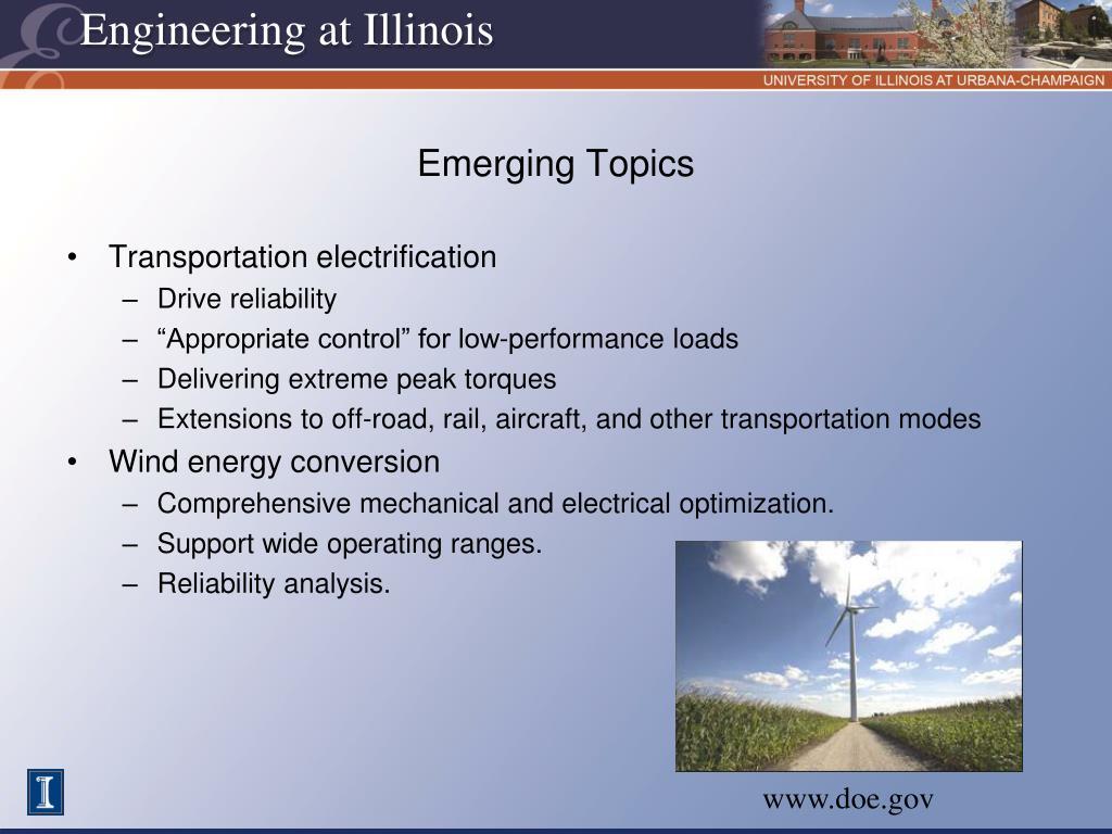 Emerging Topics